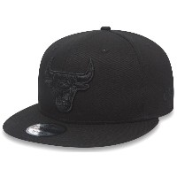 New Era NBA Chicago Bulls Snapback Black On Black Cap 9fifty 950 Basecap S/M S M
