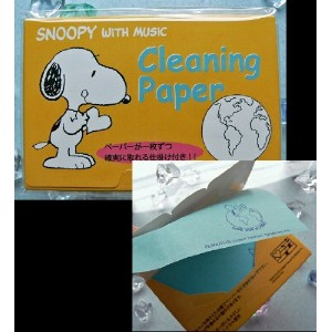 SNOOPY with Music クリーニングペーパー(2個セット)