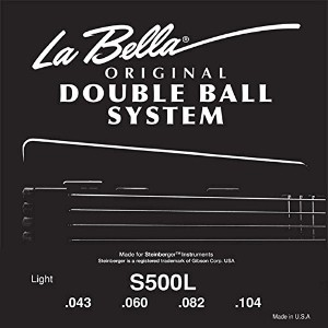 La Bella S-500L/Double Ball Bass/Light/043-104/Stainless Steel Flat Wound