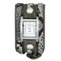 [ラメールコレクション] LA MER COLLECTIONS 腕時計 Women's Cement Snake Silver Layered Wrap Watch 日本製クォーツ LMLW4045...