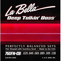 La Bella 760FM-CB/Deep Talkin' Bass/Medium/029-128/6strings/Stainless Flat Wound