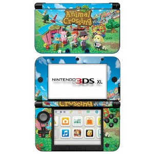 とびだせどうぶつの森 北米版スキン 3DS XL Animal Crossing New Leaf Game Skin for Nintendo 3DS