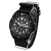 CWC [カボット・ウォッチ・カンパニー] Royal Navy SBS Divers Quartz Watch Black with Day/Date [正規輸入品][腕時計][クロノワールド...