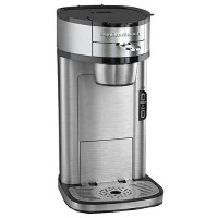 【並行輸入】Hamilton Beach Single Serve Scoop Coffee Maker, Stainless Steel コーヒーメーカー