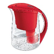 Brita Oceania Water Filter Pitcher, 10 Cup, Red by Brita