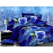 Dexim 3D Print Double Polysatin Bed Sheet With Two Pillow Cover Set Black by Dexim [並行輸入品]