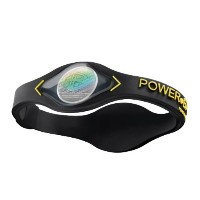 POWER BALANCE(パワーバランス) SILICONE WRISTBAND Black/ Yellow S 【日本正規品】