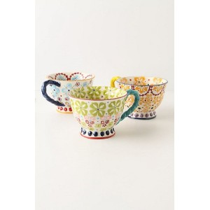 Anthropologie(アンソロポロジー)ティーカップ 3点セット With A Twist Teacup 073837【並行輸入品】