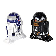 Star Wars Salt and Pepper Shakers スターウォーズR2D2&R2Q5塩及びコショウのシェーカー