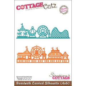"CottageCutz Die W/Foam 4""X6""-Boardwalk Carnival Silhouette Made Easy (並行輸入品)"