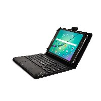Dell Venue 8, Venue 8 Pro キーボード ケース COOPER TOUCHPAD EXECUTIVE 2-in-1 ワイヤレス Bluetooth キーボード マウス レザー...