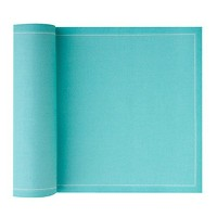 MYdrap 12 Count Cotton Dinner Napkin, 12.6 x 12.6', Aquamarine [並行輸入品]