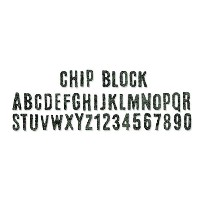 "Sizzix Sizzlits Decorative Strip Die By Tim Holtz-Chip Block Alphabet 12.625""X2.375"" (並行輸入品)"