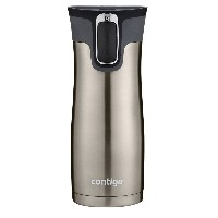 Contigo Autoseal West Loop Stainless Steel Travel Mug with Easy Clean Lid マグ 450ml シルバー