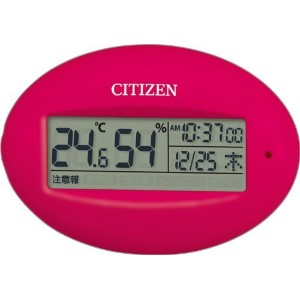 CITIZEN(リズム時計) 【高精度温湿度計・携帯用サイズ】 ライフナビピコA 8RD205-A13 ピンク色 8RD205-A13