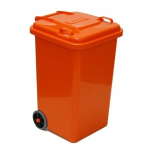 PLASTIC TRASH CAN 65L(オレンジ)
