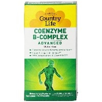 海外直送品Country Life Coenzyme B Complex, Advanced 120 Vcaps
