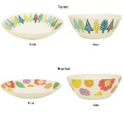 256(ニコロ) Bamboo Plate&Bowl set Forest