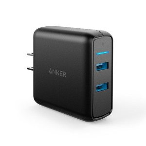 Anker PowerPort Speed 2 (QC3.0 2ポート搭載、39.5W 2ポート USB急速充電器) iPhone、Android各種対応 A2025111