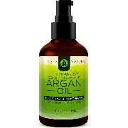 Instanatural Organic Argan Oil For Hair, Face & Skin - BEST 100% Pure & Certified Organic Cold...
