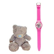 Me To You Girl's Quartz Watch with Multicolour Dial Analogue Display and Pink Plastic or PU Strap...