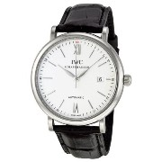 [アイダブルシー]IWC 腕時計 Portofino Silver Dial Black Leather Strap Automatic Watch IW356501 メンズ [並行輸入品]