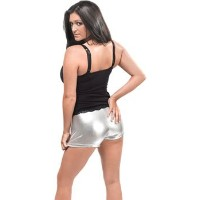 Bristol Novelty Hot Pants. Silver Adult Costume - Women's - One Size