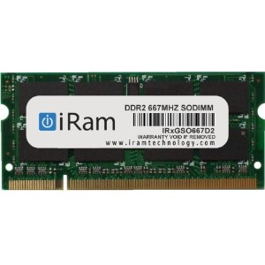 iRam Technology Mac用メモリ DDR2/667 2GB 200pin SO-DIMM IR2GSO667D2