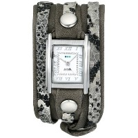 [cpa][c:0][b:5][s:1.43]ラメールコレクション La Mer Collections Women's LMLW4045 Silver-Tone Watch with Leather Wrap-Around Bands 女性...