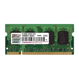 Transcend 512MB DDR2 533 200pin SO-DIMM TS512MHP831A (HP BUSINESS NOTEBOOK nc6230対応)タイオウ