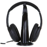 Andoer 5 in 1 HiFi ワイヤレス ヘッドフォン ヘッドホン 音楽再生 Wireless Headphone Earphone FM Radio Monitor MP3 PC TV...