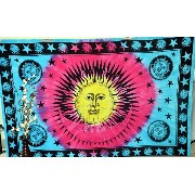 Sun Star Indian Twin Tapestry Wall Hanging Hippie Bedspread Ethnic Decor Blanket