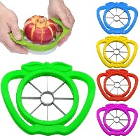 Kabalo BLUE STAINLESS STEEL APPLE WEDGER / SLICER / CUTTER / CORER / DIVIDER / PEELER also for PEAR...