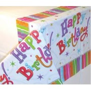 Amscan International Radiant Birthday Plastic Tablecover
