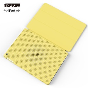 iPad Air ケース カバー | MESH SHELL CASE for iPad Air マット イエロー