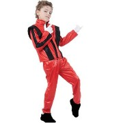 Bristol Novelty Superstar. Red Jacket/Trousers S Childrens Costume - Boy's - Medium, 7-9 Years.