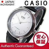 Casio Men's Classic Black Leather Strap Watch MTP1095E-7A [並行輸入品]
