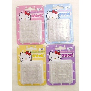 HELLO KITTY 透明ピアス 「クリッピ」 4色 1セット