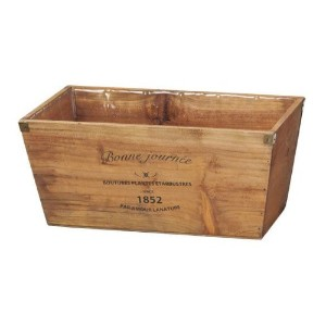 GREEN HOUSE Logo wood planter BR (ブラウン) (355×195×160mm) 3077-A