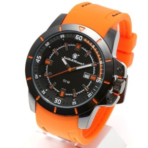 [Smith & Wesson]スミス&ウェッソン ミリタリー腕時計 TROOPER WATCH ORANGE/BLACK SWW-397-OR [正規品]