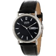 Citizen Men's BM8240-03E Eco-Drive Black Leather Watch【並行輸入】