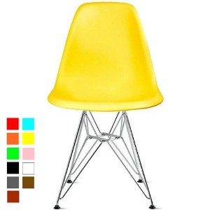 【Hilax】 Eames イームズチェア リプロダクト (イエロー/スチール)