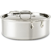 All-Clad 7508 MC2 Master Chef 2 Stainless Steel Tri-Ply Bonded Stockpot with Lid Cookware, 8-Quart,...