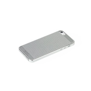 Deff Carbone Plate for iPhone5/5S Silver DCP-IP51CSV/B