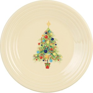 Fiesta 9-Inch Luncheon Plate, Christmas Tree by Homer Laughlin