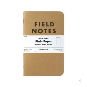 FIELD NOTES 3-PACKS (C)無地 [FB001]