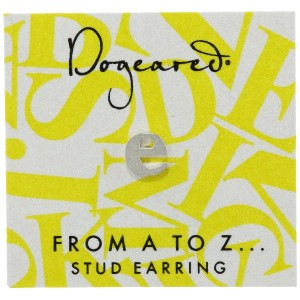 [ドギャード] DOGEARED from a to z earring, SS, little E V3SSZ00210404
