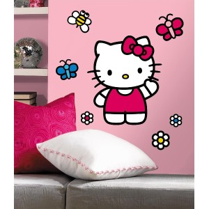 RoomMates ウォールステッカー World of HelloKitty Giant Wall Decal RMK1679GM