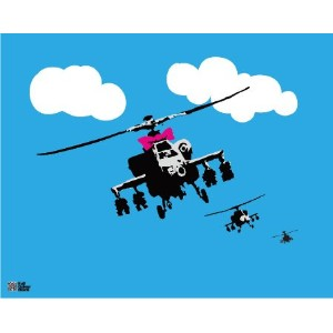 BANKSY ミニポスター Helicopters BKM-002
