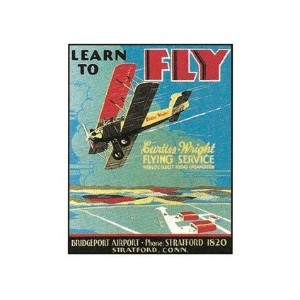 Learn To Fly Tin Sign (飛行機 ティンサイン 看板)